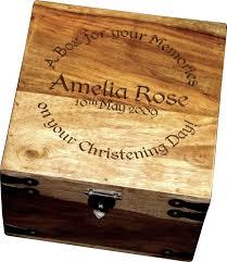 Engravable Keepsake Box Christening Box Large Personalised Christening Solid Wood