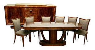 beautiful 8 piece art deco dining set c 1930 5736 art deco