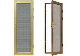 hinged security screen door