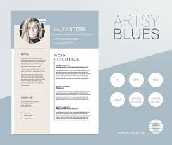 artsy resume templates artsy blues resume template resume templates creative market