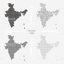 India Maps by India Maps Mosaic Squarred And Dotted Stock Vector Art 514619454