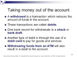 Card One Banking Business Account 1 Business Math Chapter 4 Banking Cleaves Hobbs Business Math