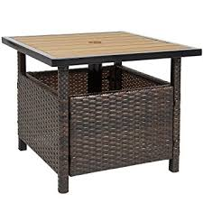 outdoor table umbrella and stand amazon com best choice products patio umbrella stand wicker rattan