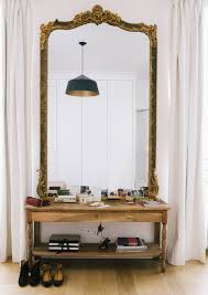 Apartment Design by A Dreamy Paris Apartment Entry Mirror Interiors And Apartments