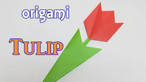 how to make a paper tulip origami flower tulip tutorial easy for