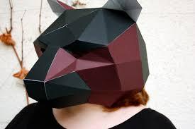 paper halloween mask diy halloween mask
