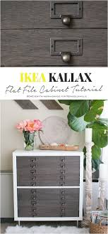 Kallax Filing Cabinet Ikea Hack Kallax Cube Shelf Into Card Catalog Style Flat File