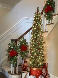 christmas garland staircase decorating ideas improvements blog