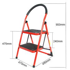 red family use portable household ladder 2 steps folding stool