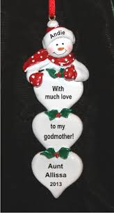 lots of from godchild to godmother ornament