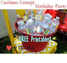curious george birthday curious george birthday party free printable s