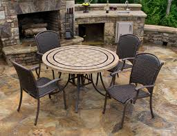 patio table with 4 chairs marquesas 5pc dining set 4 chairs 48 stone table outdoor