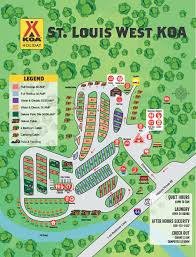 Old Route 66 Map by Eureka Missouri Campground St Louis West Historic Route 66 Koa