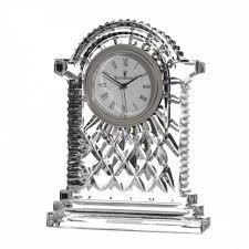 Crystal Mantel Clocks Waterford Crystal Carriage Clock Large Amazon Co Uk Kitchen U0026 Home