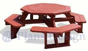Octagonal Picnic Table Project by Classic Octagon Picnic Table Woodworking Plans Blueprints Odf08