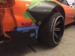 rocket bunny rx7 fitting the rx7 rocket bunny rear fenders to the 13