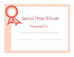 certificate templates 2nd prize winner certificate powerpoint