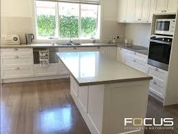 antique white usa kitchen cabinets shaker style kitchen caesarstone shitake benchtop 2 pack