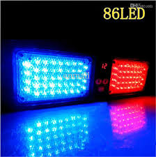 led emergency light 86 led strobe light car visor light visor