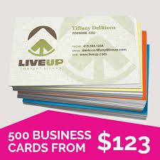 500 Business Cards Laminated Single Sided Business Cards Virtual Print