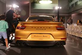 gold porsche convertible the collection porsche exclusive manufaktur event the official