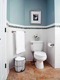 Wainscoting Small Bathroom by Small Bathroom Makeover Small Bathroom Navy Walls And Subway Tiles