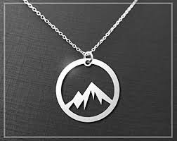 silver pendant necklace handmade images Silver mountain necklace a sterling silver circle mountain jpg