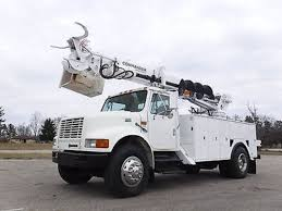 international bucket trucks boom trucks in michigan for sale
