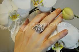 flower shaped rings images Custom diamond rings vancouver custom jewelry vancouver ll jpg
