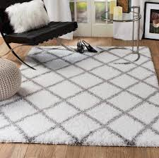 Gray Area Rug Supreme Shag White Gray Area Rug Reviews Allmodern