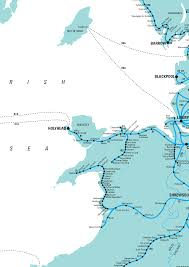 Map Of Wales Rail Map Of North Wales
