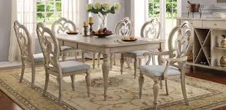 country style table and chairs acme 66060 abelin provence antique white dining table set 8pcs