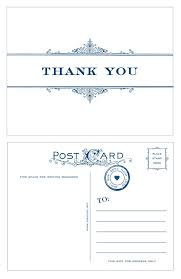 thank you postcards vintage scroll thank you postcards 10 pack idea chíc
