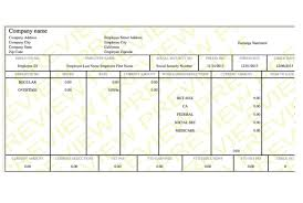 Paystub Template Excel Free Check Stub Template Word