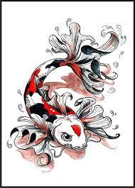 butterfly koi fish design tattooshunter com