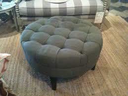 round leather tufted ottoman furniture luxury round tufted ottoman for home furniture ideas