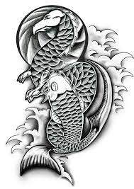 dragon and koi by danwhitedesigns on deviantart