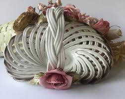 capodimonte basket of roses capodimonte basket etsy