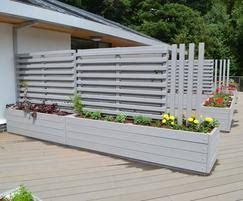 timber planters with trellis screens street design esi