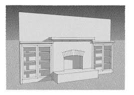 design work the portlandia craftsman mantel with side cabinets