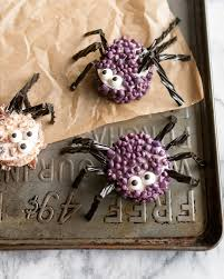 halloween recipe candy coated marshmallow spiders kitchn