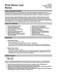 family services worker resume template premium resume samples