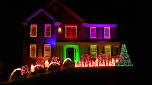 Christmas House Light Show by Disco Star Wars Christmas Light Show Youtube