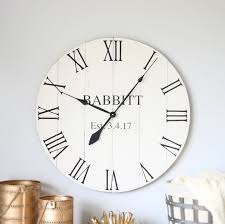 25 30 in wall clock personalized gift wedding gift family gift