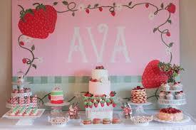 strawberry shortcake birthday party ideas strawberry shortcake birthday party craft ideas cakegirlkc