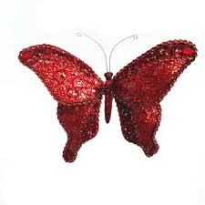 glitter butterfly with polyresin handmade butterfly