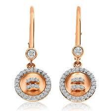 leverback diamond earrings 14kt gold satin button leverback diamond earrings
