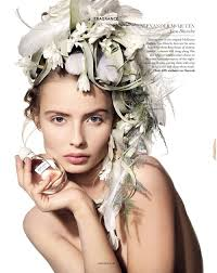floral headdress floral styling for harrods magazine creative crowns for
