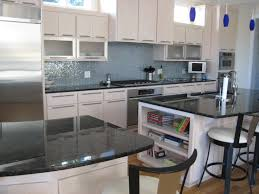 Glass Tiles For Backsplashes For Kitchens Contemporary Kitchen Featuring Gourmet Appliances Volga Blue