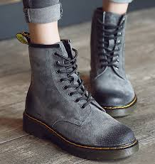 s boots lace up low heel s martin shoes genuine leather lace up low heel ankle